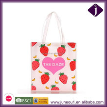 Custom Promotional Non Woven Tote Bag Supermarket Shopping Bag Pink Gift Bag