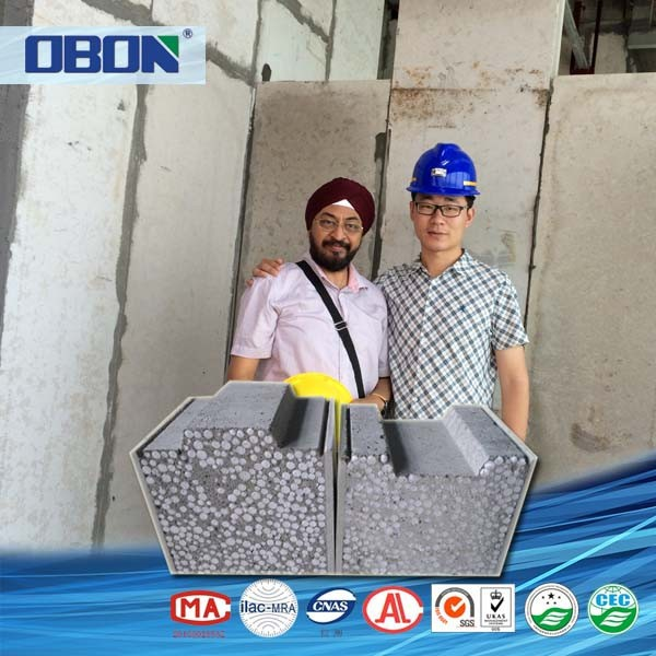 Fujian OBON foam concrete manufactured home wall panels