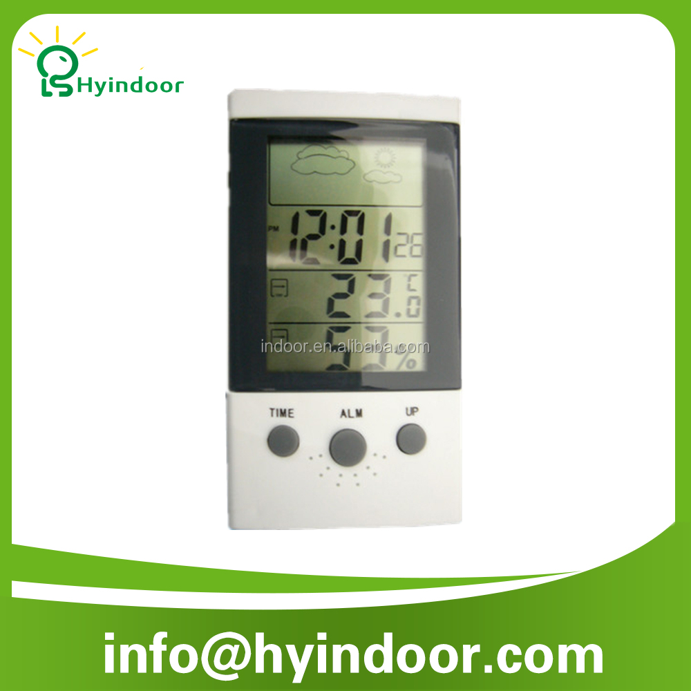 CE APPROVED Electronic Digital Thermometer and barothermohygrograph <strong>temperature</strong> and Humidity meter with big screen and calendar