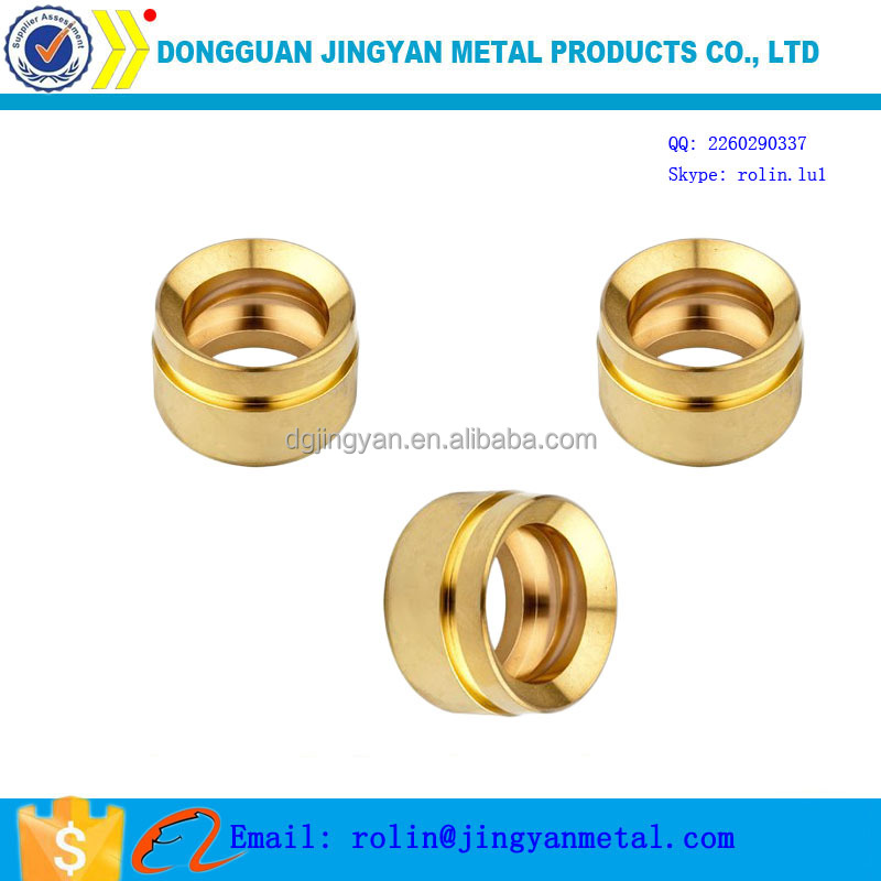 OEM/ODM high precision metal sleeve brass male female connectors