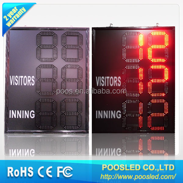 outdoor cricket electronic led scoreboard