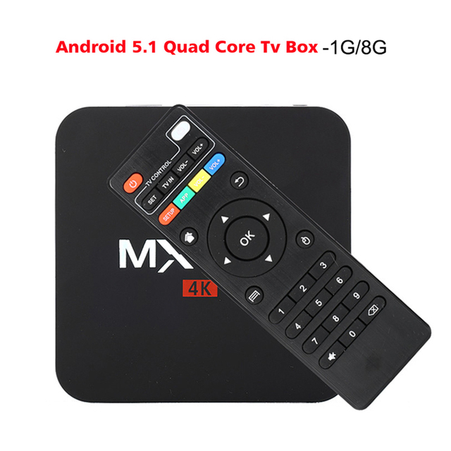 MXQpro-4K S905 Android TV Box Amlogic S905 Quad Core Android 5.1 DDR3 1G HDMI 2.0 WIFI 4K 1080i/p Kodi 15.2 Full loaded add-ons