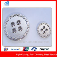 fashion 4-holes silver shirt buttons