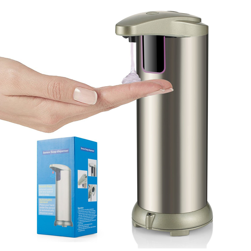 bathroom accessories stainless steel automatic soap dispenser