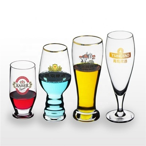 Factory direct sale hand-blown clear 680ml lead-free crystal beer glass