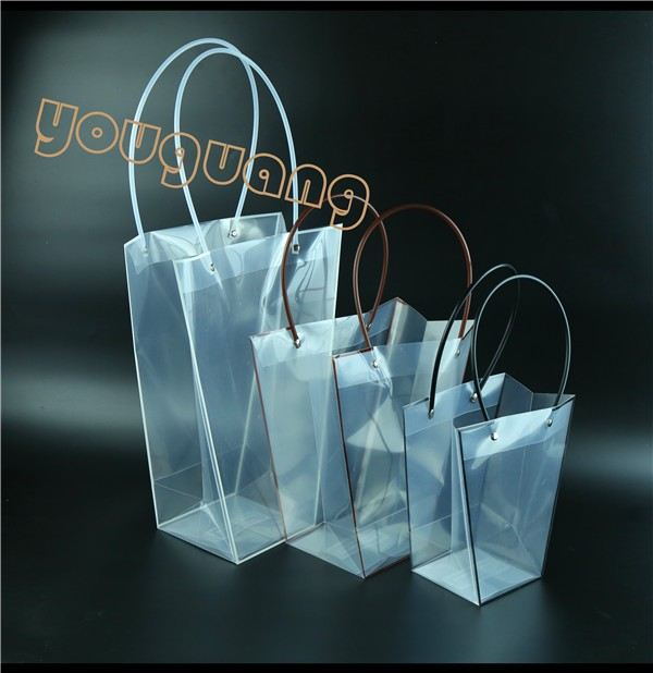 cone flower bag plastic potting bags clear plastic bag for flower packing customized size with different shape
