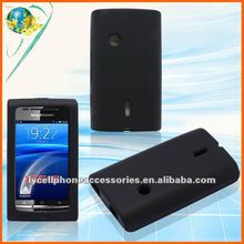 For Sony Ericsson X8 E15i black silicone cell phone case