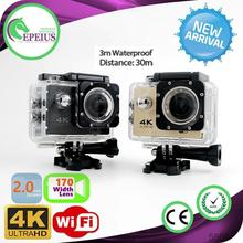 Ultra HD Video F60 WIFI CAMERA 4k action camera gearbest Under Water 30M Action Digital Camera