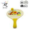 wooden beach paddle racket with PVC ball