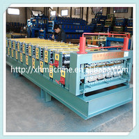 Trade Assurance Hudraulic Cutting Double-layer Colored Steel Sheet Forming Machine/Metal Roof Tile Production Line