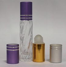 empty Roll on Refillable Glass Perfume Bottles Including Roller ball