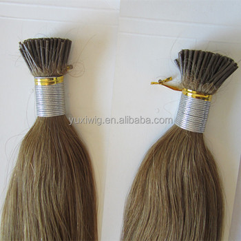 Top quality i tip keratin human remy hair extensions mini tip hair