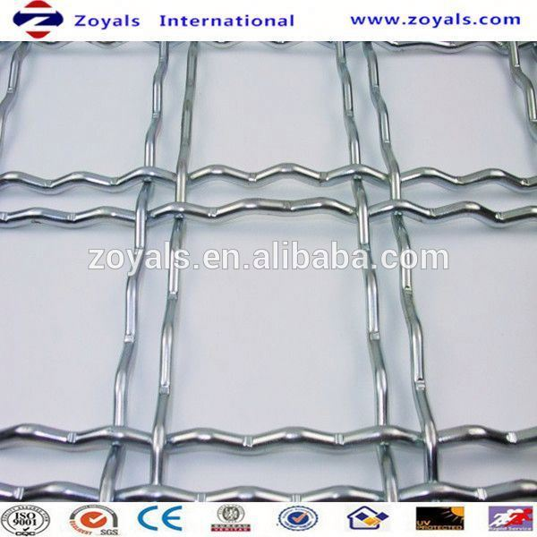 hebei crimped wire mesh/stainless steel corner bead crimped wire mesh/stainless steel crimped woven wire Exporter ISO9001