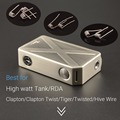 Chinese supplier most popular products rainbow 240 watt box mod tesla invader 3