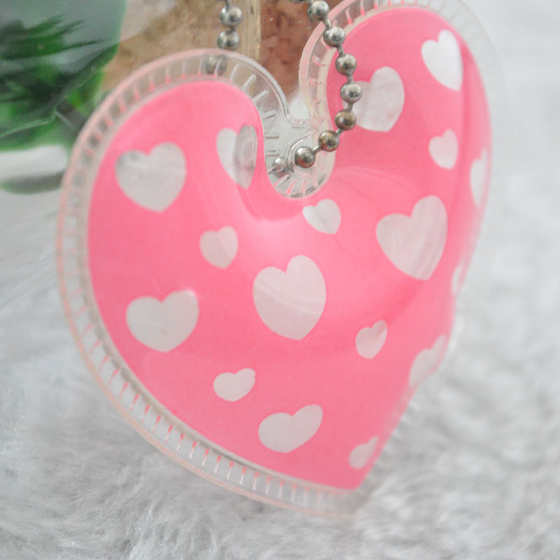Heart Shaped PP Down Feather Content Labeling Ball Chain Hang Tag For Clothing