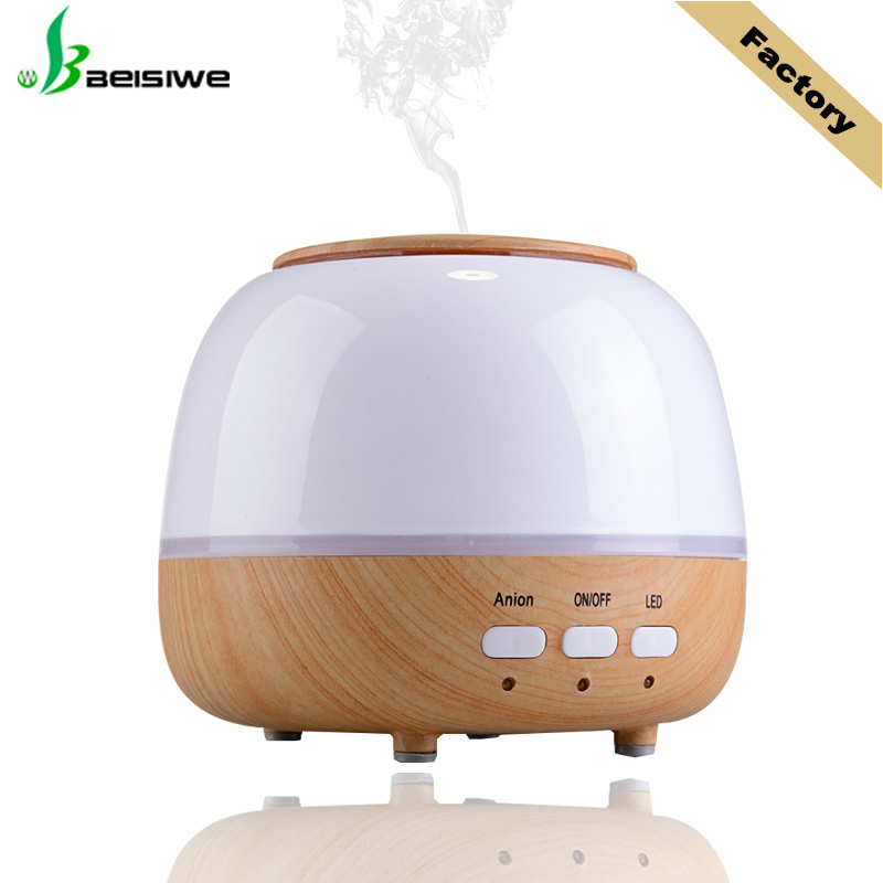 2017 hot selling 7 color <strong>led</strong> <strong>light</strong> wood grain scent machine aromatherapy oil diffuser