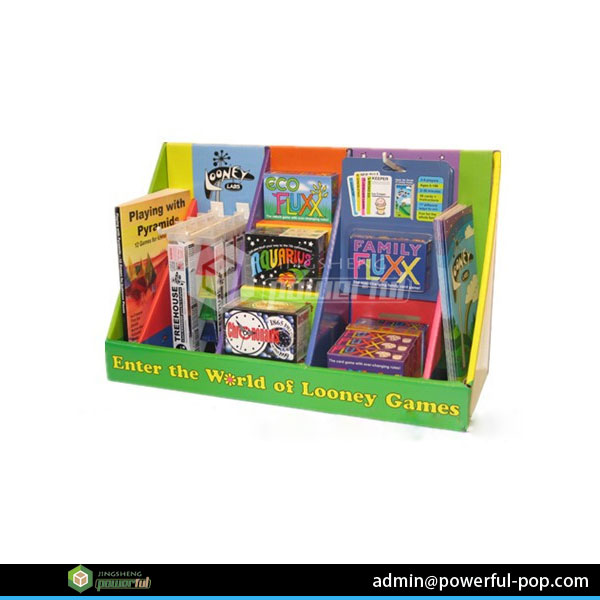 easy/simple type for book collection shelf paper/cardboard display counter desktop display for retail