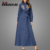 Kebaya Fashion Denim Style Islamic Clothing Turkish Abaya High Quality Embroidery Kaftan Muslim Long Dress Abaya