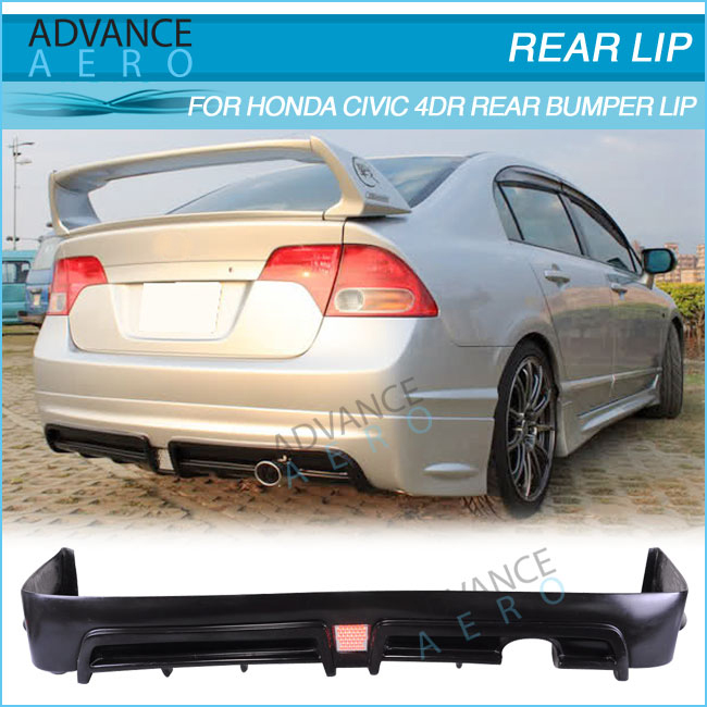 FOR 2006 2007 2008 2009 2010 2011 HONDA CIVIC 4DR SEDAN PP BODYKIT LED BRAKE LIGHT BODY KIT POLY PROPYLENE BODYKITS
