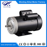 NEMA 56C 4 pole 1hp single phase asynchronous ac 120v electric motor, Totally enclosed fan-cooled