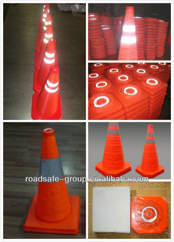 High Standard PVC Colorful Warning Traffic Cones Soccer training cones