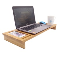 Wood Monitor Stand Riser Bamboo Laptop