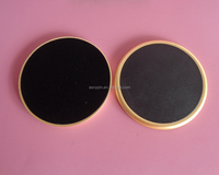 elegance blank plain matt gold metal tea coasters and placemats with bonded leather insert