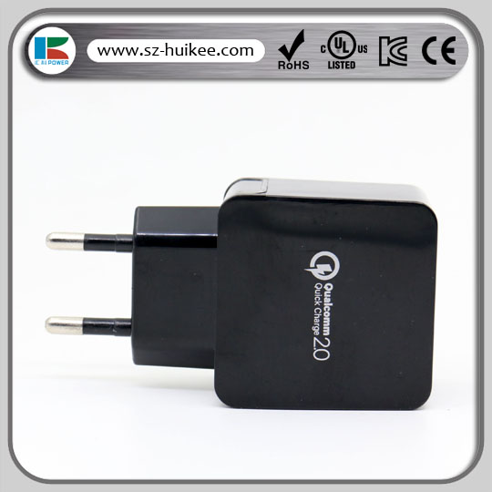 3 port usb quick charger 5V 3.1A/ 9V1.67A /12V1A for mobile phone using