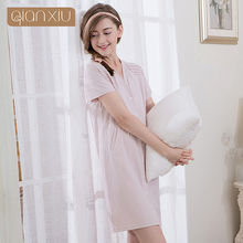 Best Quality Qianxiu Cotton Comfortable Ladies Sexy Sleepwear Nightgown