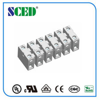 10.00mm Pitch Panel Thru Terminal Blocks 600V 20A grey electric connector