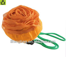 Cute Folding Orange Rose Shape Nylon Shopping Bag