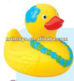 10 cm headdress flower and neck dress flower rubber duck