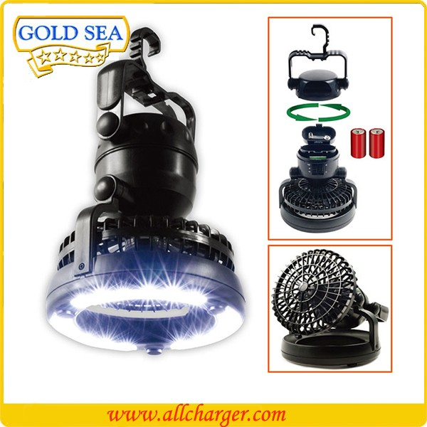 2 in 1 LED ceiling fan lantern for camper
