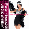 Black and Sliver Shiny Fancy Dress Dance Costume Sexy Women Burlesque Costume W418616