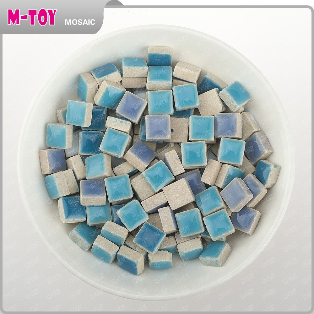 CS89 10x10mm Purple Ceramic decor mosaic handmade art craft