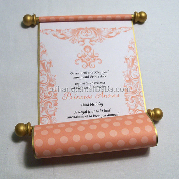 ... scroll box metal scroll stick mango and gold wedding invitation cards
