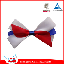 Manufacturer handmade colorful satin ribbon bow ties