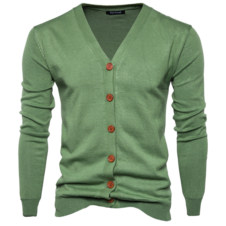 High quality blank mens v neck knitted sweater cardigan