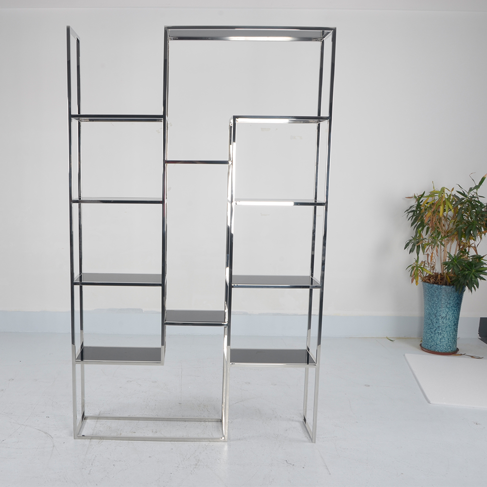 stainless steel shelf with glass/Multi-layer type steel shelf/Multipurpose shelf