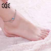 CDE Fashion China Jewelry Wholesale New Design Gold Anklet Designs Fancy Anklet