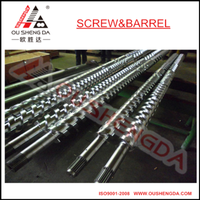 Battenfeld twin parallel screw and cylinder for pvc granulator