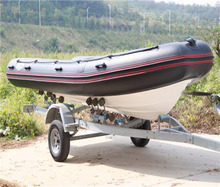 inflatable rib hypalon wave boat with outboard motor fiberglass fishing boat for sale