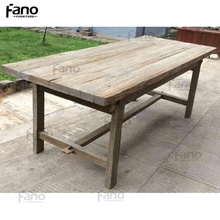 french style reclaimed wood 10 seat farm dining table