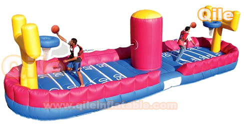inflatable bungee basketball/New design Inflatable sport games/CE inflatable bungee sports