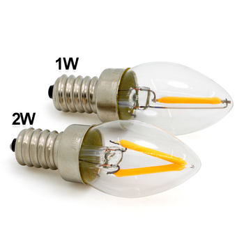 E14 refrigerator decorative LED bulb, AC230V 1W 60LM Ra>80 E14 dimmable LED candle bulb