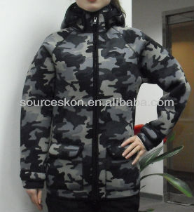 Neoprene hooded hunting jacket