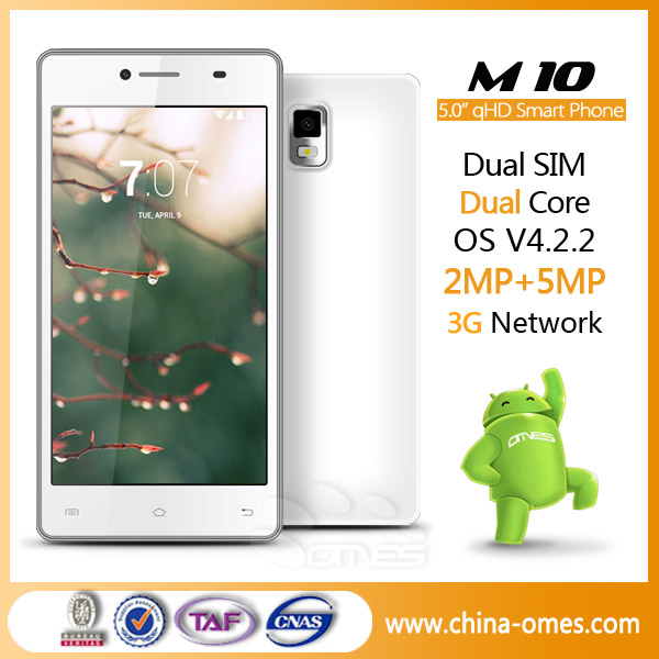 Fashion Android4.2 Google 4.0 Dual Core 3G Mtk 6572 Smart Phone