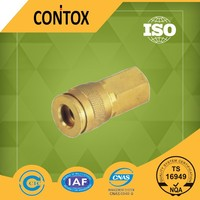 C110 high quality industrial type one touch brass pipe fitting pneumatic quick coupling air hose connector