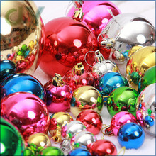 Custom Christmas Ball Xmas Plastic Ball Christmas Ornament clear plastic balls