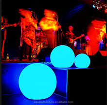 Top sale party decoration RGB colors floating decoration led pool ball